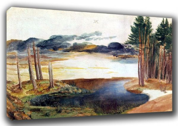 Durer, Albrecht: Pond in the Woods. Landscape/Scenic Fine Art Canvas. Sizes: A3/A2/A1 (00162)